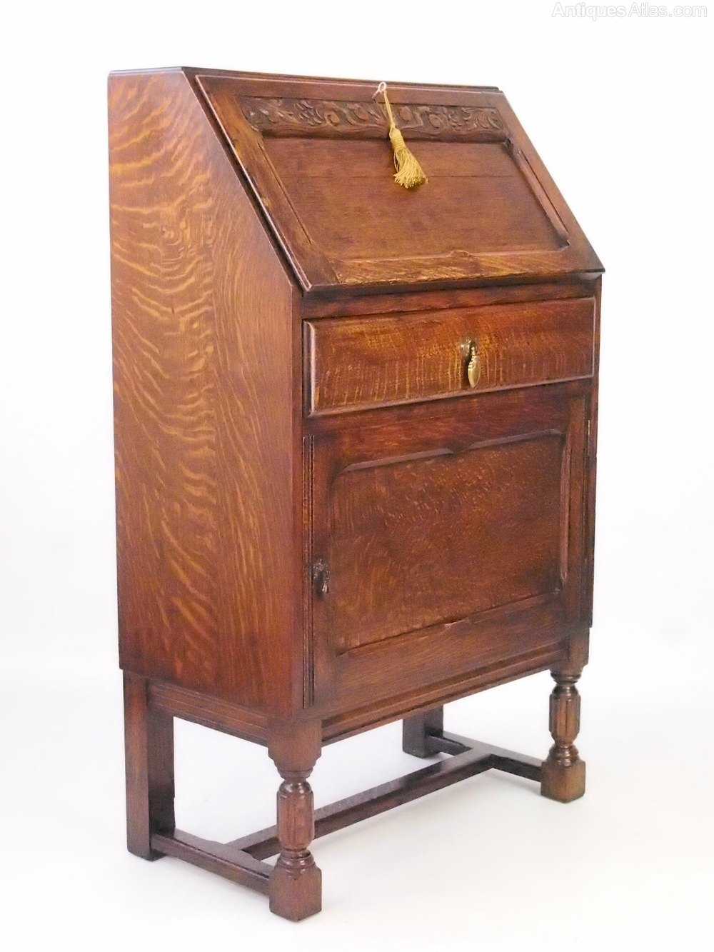 Small oak bureau writing desk antiques atlas