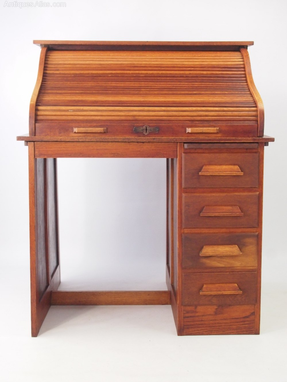 Small Oak Roll Top Desk Bureau Antiques Atlas