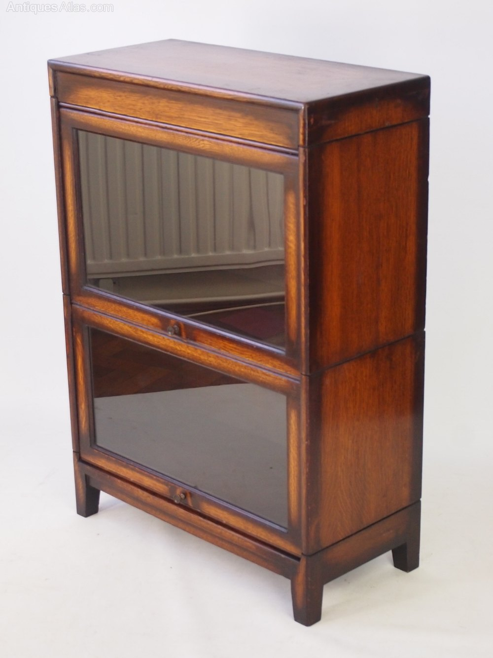 Small Oak Stacking Barristers Sectional Bookcase ... 1920s Living Room Furniture