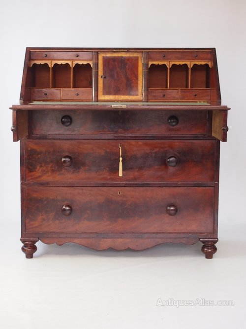 victorian mahogany bureau writing desk antiques atlas. Black Bedroom Furniture Sets. Home Design Ideas