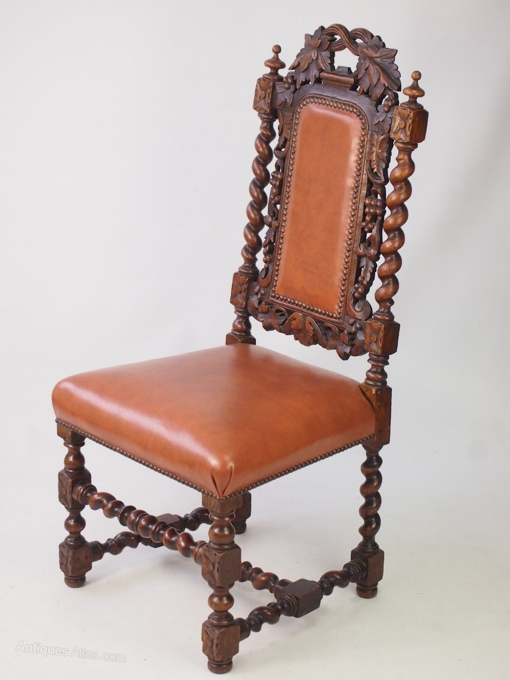Victorian oak leather gothic revival chair antiques atlas for Victorian gothic chair