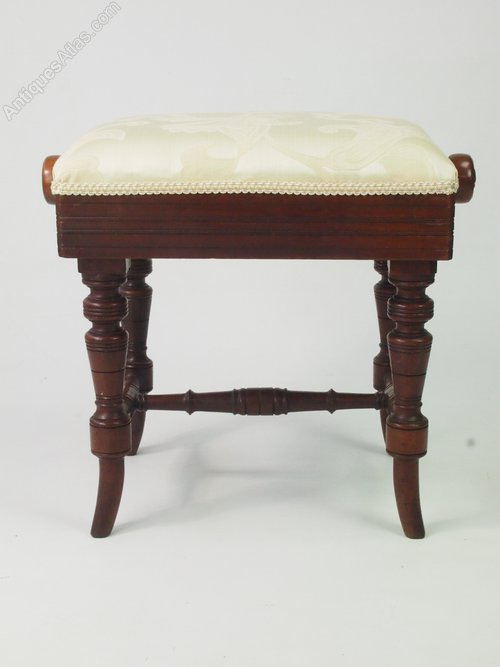 Victorian Rise And Fall Piano Stool Music Bench Antiques Atlas