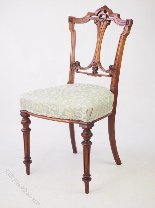 Victorian Walnut Balloon Back Chair Antiques Atlas