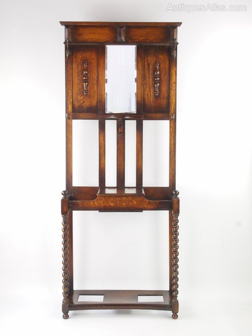 Vintage 1920s Oak Hall Stand Coat Amp Hat Stand Antiques