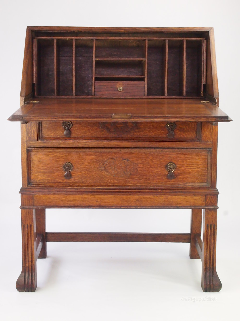 Vintage oak writing desk