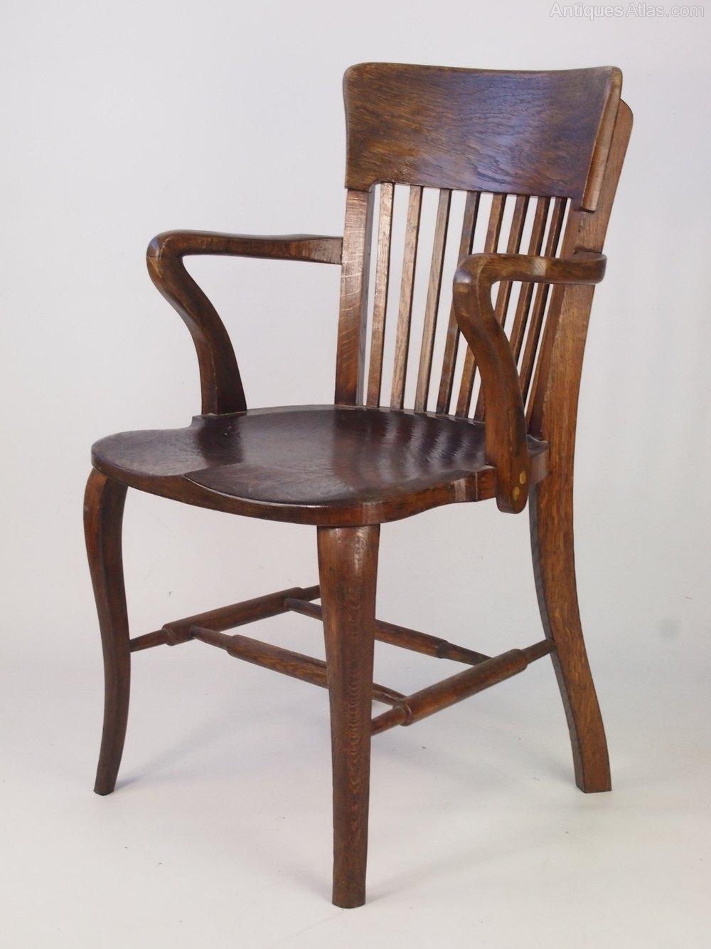 Vintage oak desk chair antiques atlas for Antique office chair