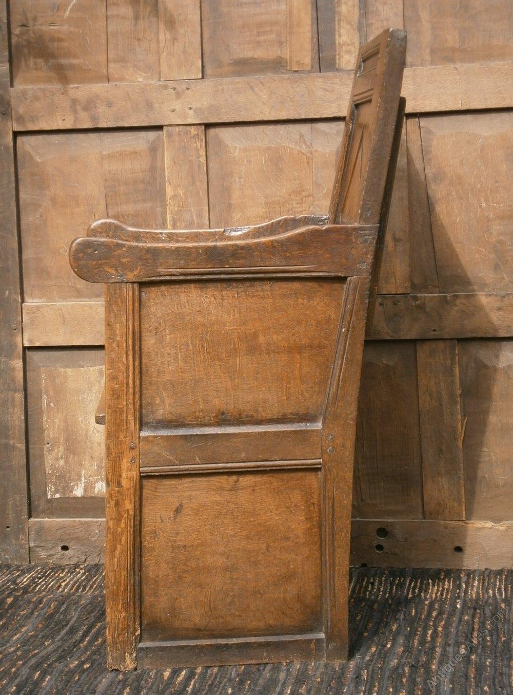 16th Century Elizabethan Enclosed Oak Chair Antiques Atlas