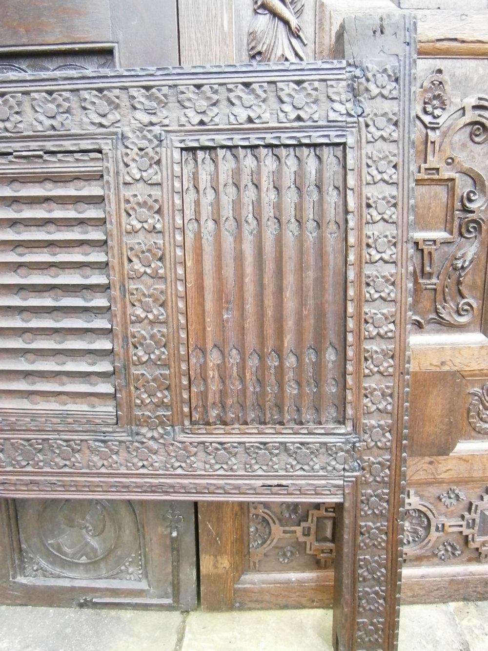 Antiques atlas th century carved oak linenfold bed head