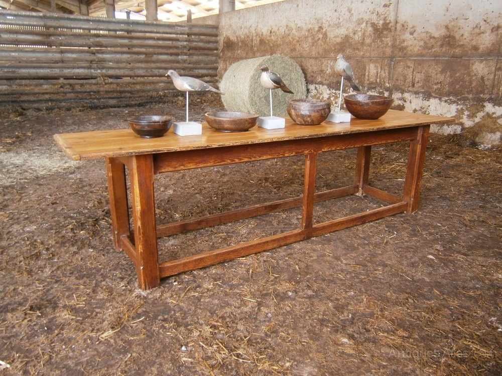 An 18th Century Country Pine 9ft Farmhouse Table