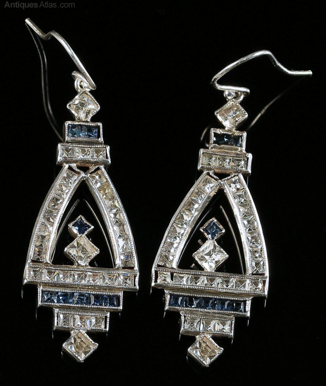Antiques Atlas Antique Art Deco Earrings