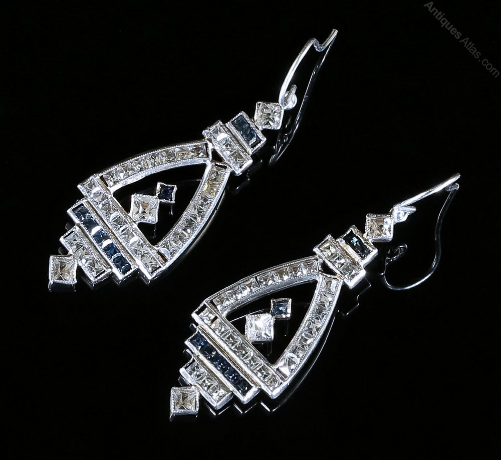 Antiques Atlas Antique Art Deco Earrings