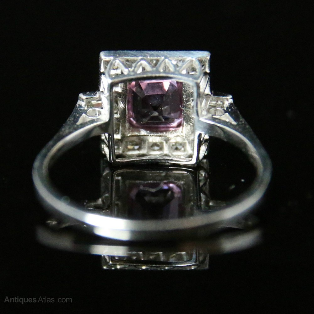 antiques atlas antique deco pink sapphire ring