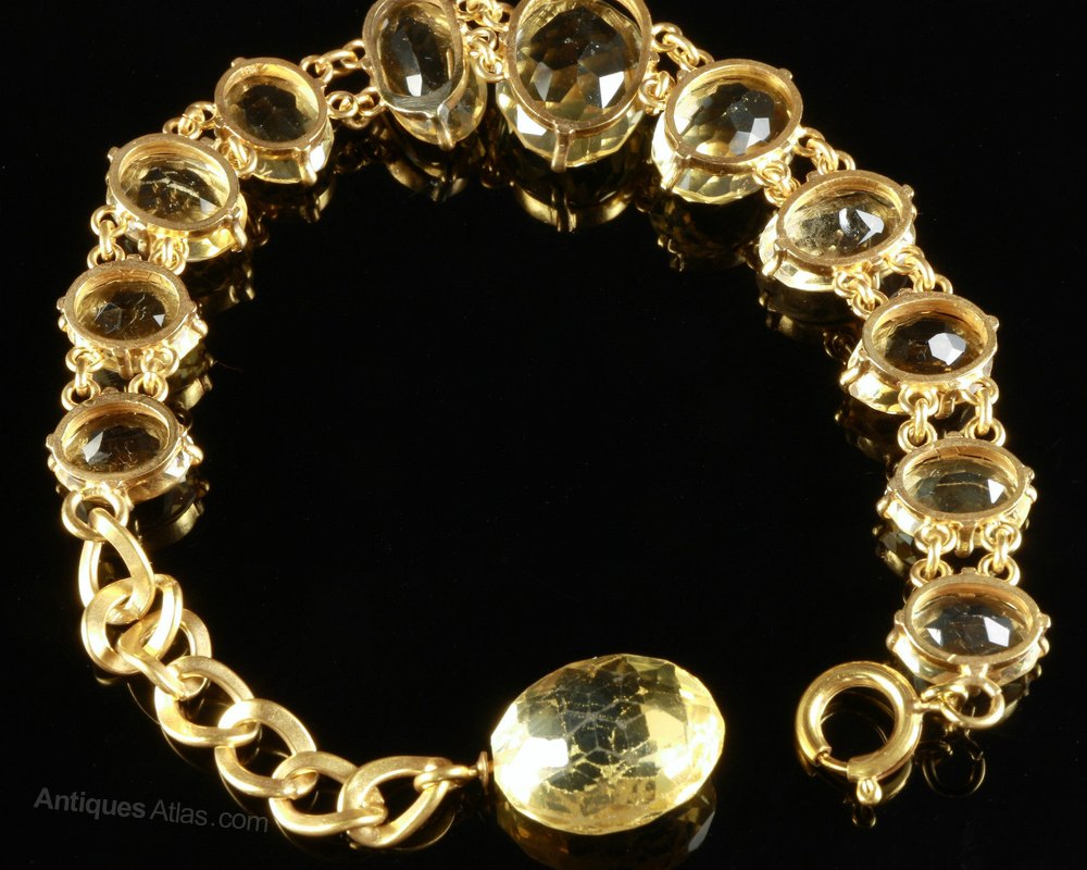 Antiques Atlas Antique Citrine Bracelet