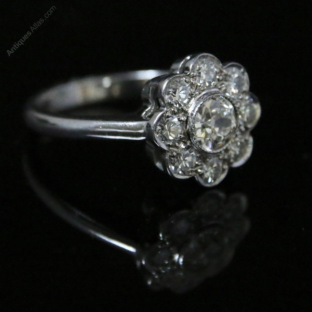antiques atlas antique cluster ring 1 85ct of