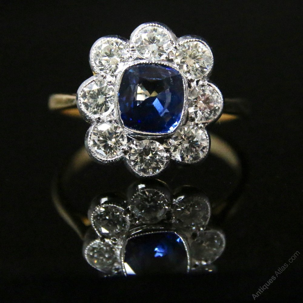 antiques atlas antique sapphire ring