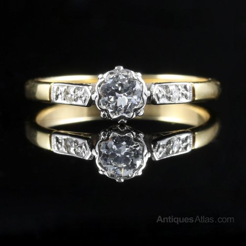 antiques atlas antique edwardian ring engagement