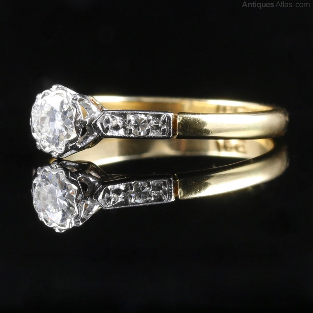 Antiques Atlas Antique Edwardian Diamond Ring Engagement