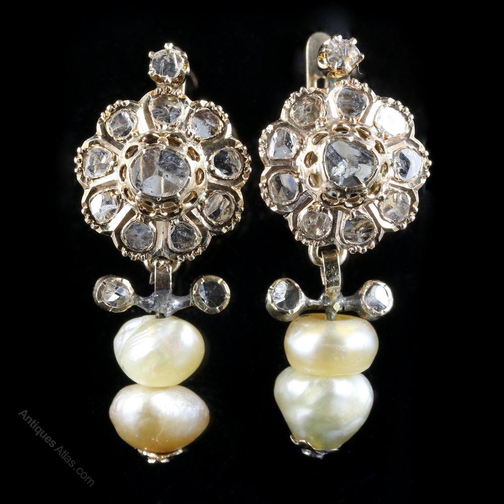 Antiques Atlas  Antique Georgian Natural Pearl Diamond. Pointer Diamond. Buy Gemstone Beads Online. Elephant Charm Bracelet. Winter Earrings. Baguette Stud Earrings. Certified Emerald. 22kt Gold Jewellery. Diamonds Emerald