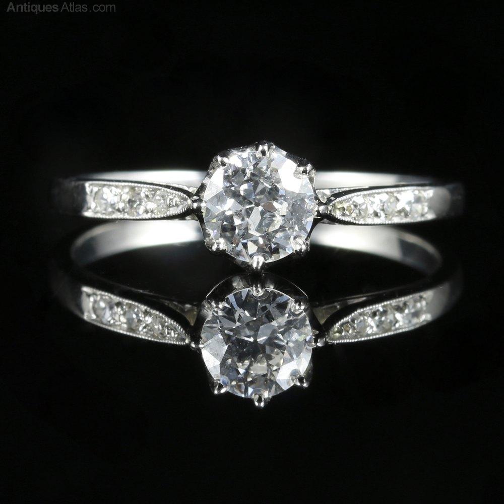 Antiques Atlas - Antique Platinum Diamond Engagement Ring ...