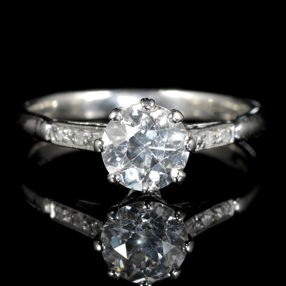 Antiques Atlas Antique Platinum Edwardian Diamond