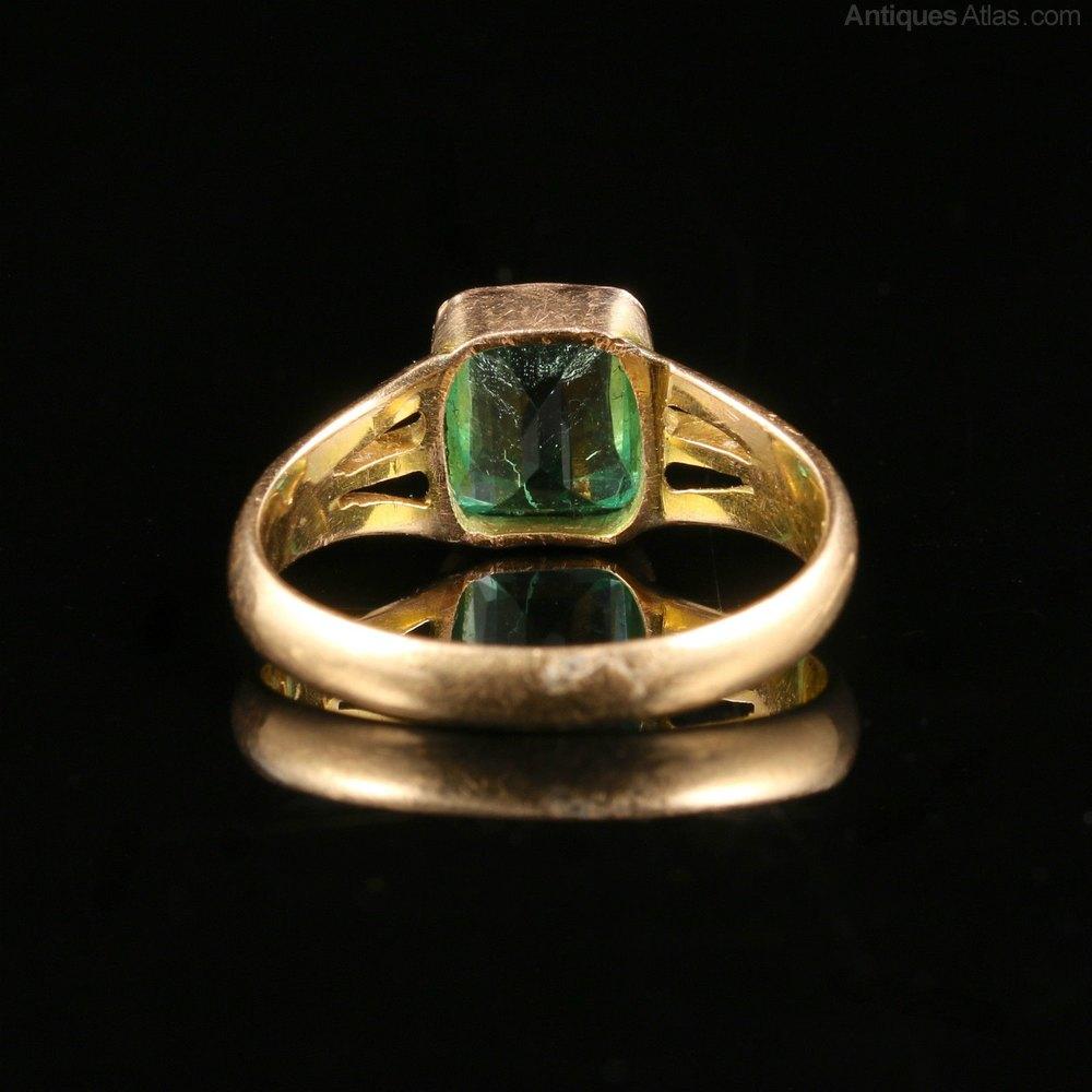 Antiques Atlas Antique Victorian 2 8ct Emerald Amp Gold Ring