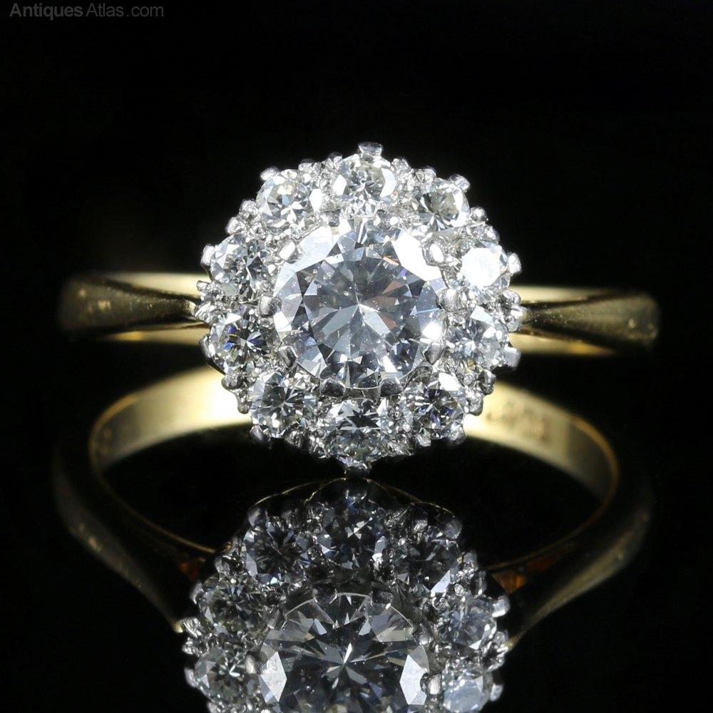 Antiques Atlas Antique Victorian Diamond Cluster Ring