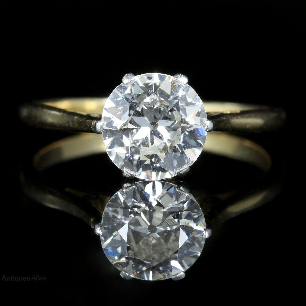 Antiques Atlas Antique Victorian Diamond Solitaire Ring