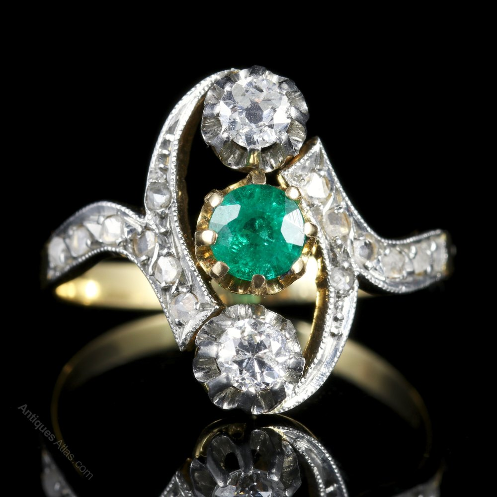 Antiques Atlas Antique Victorian French Emerald And