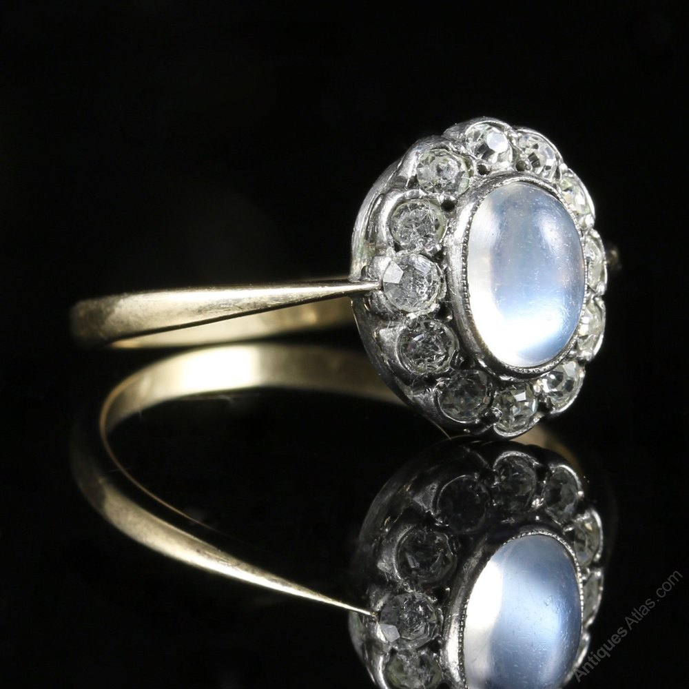 antiques atlas antique victorian moonstone and paste ring