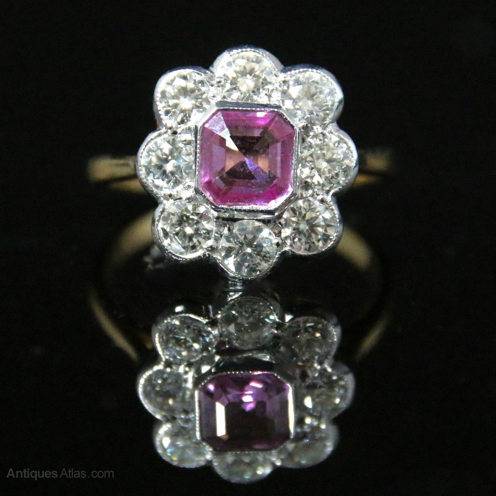 antiques atlas antique pink sapphire