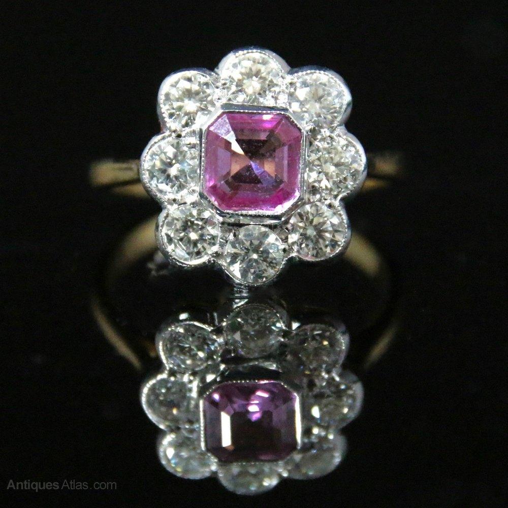 Antiques Atlas Antique Victorian Pink Sapphire Amp Diamond