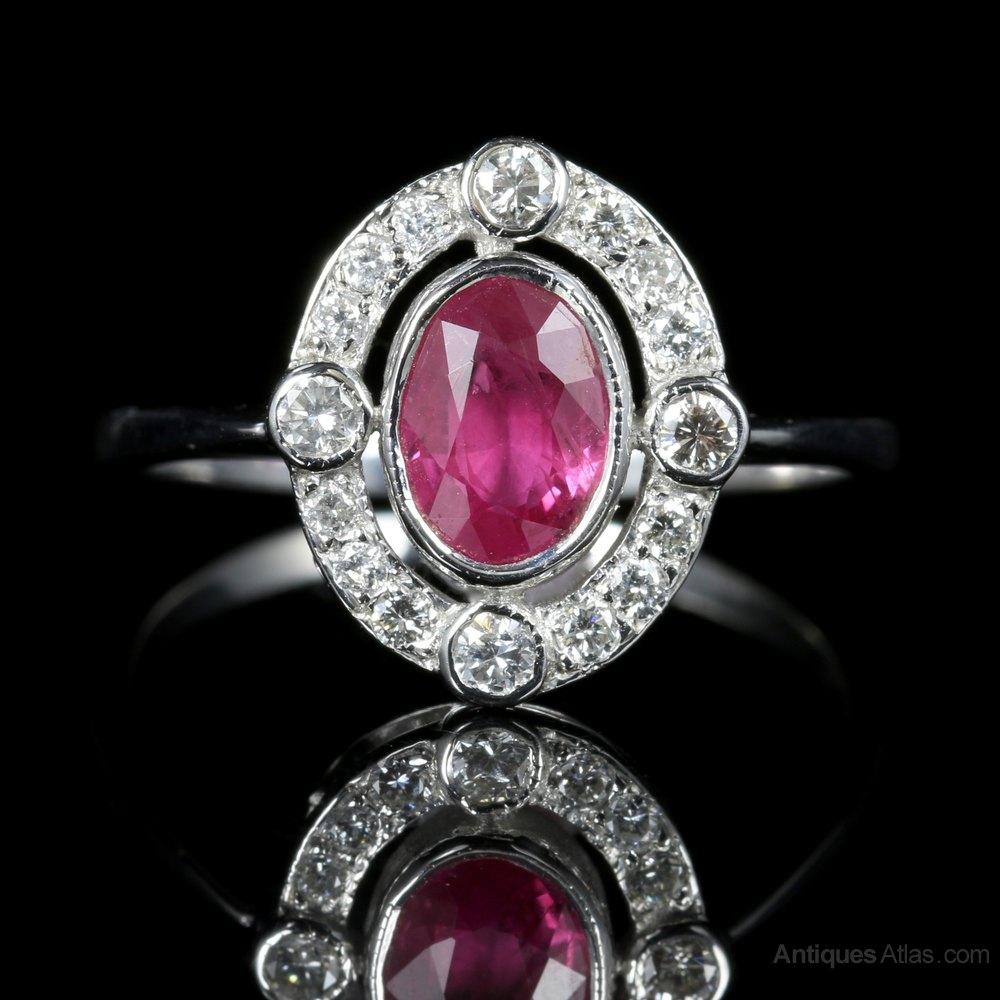Antiques Atlas Antique Victorian Ruby Diamond Ring 18ct