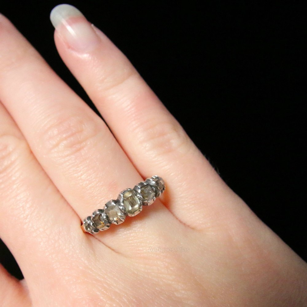 Eternity Engagement And Wedding Ring Sets 92 Fabulous Table Cut Diamond Half