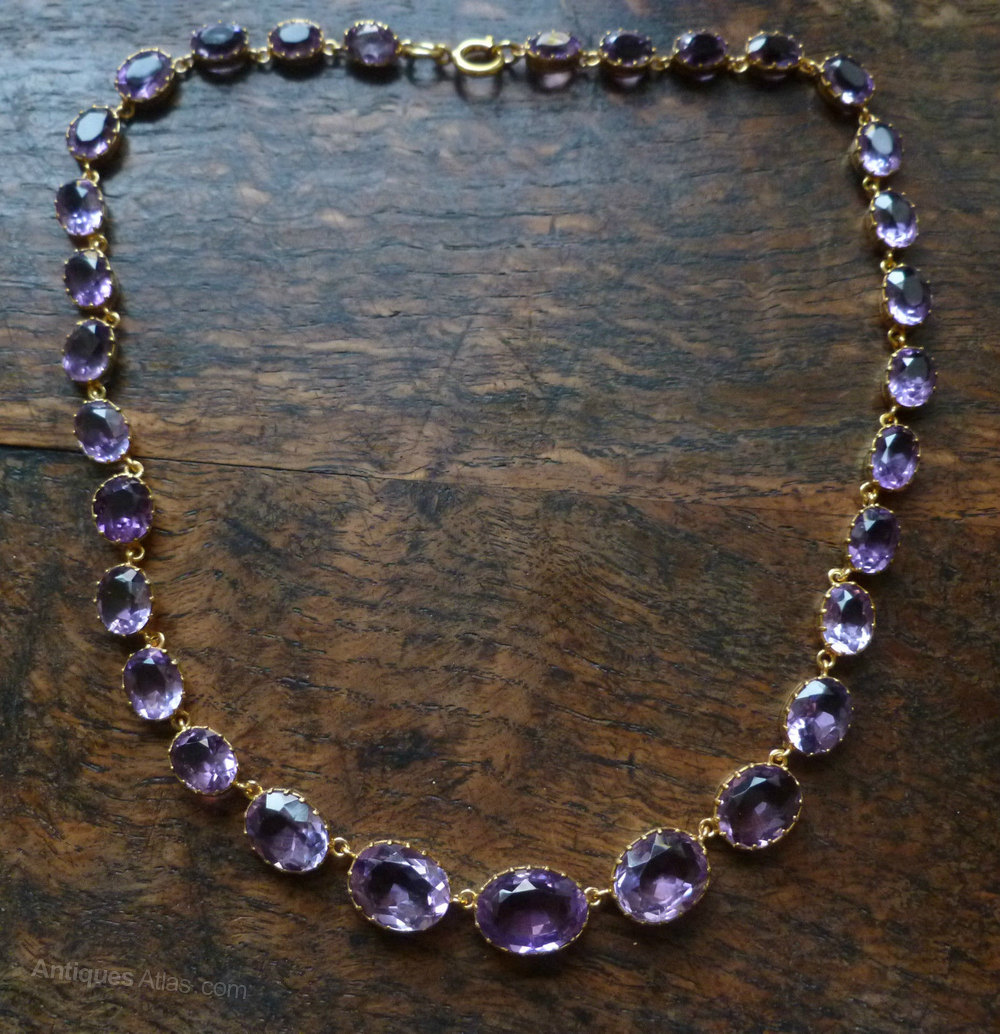 Antiques Atlas Victorian Amethyst Necklace Set In 18ct