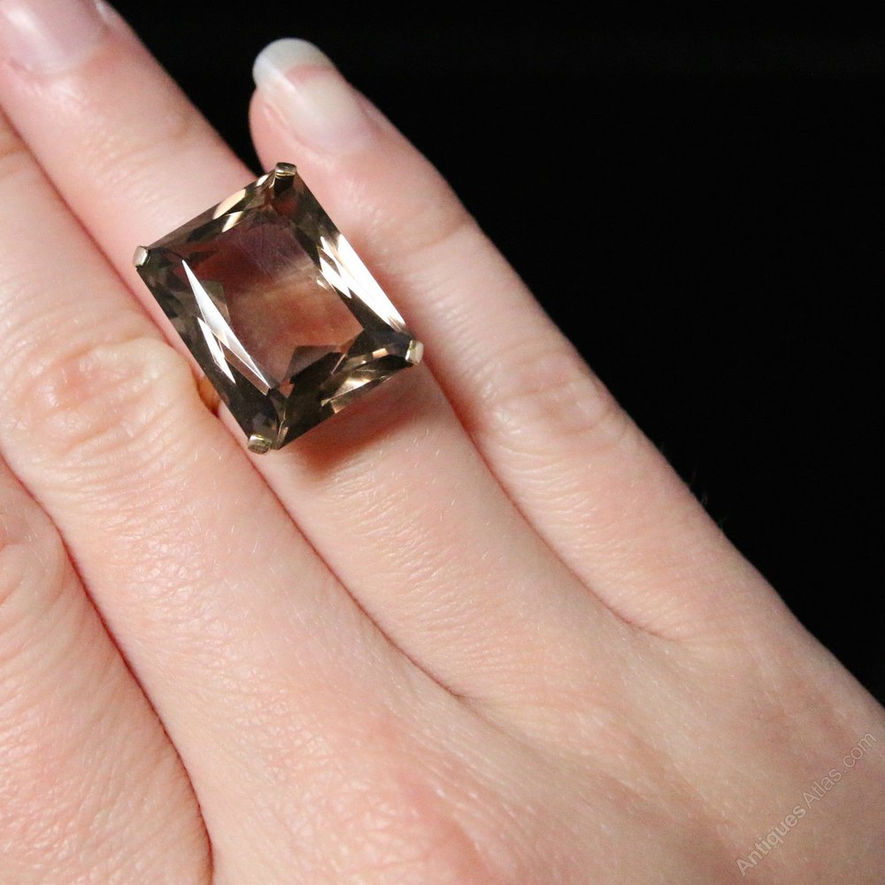Smoky Quartz Gold Ring