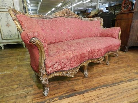 French Antique Sofa In Stunning Pink Fabric Antiques Atlas