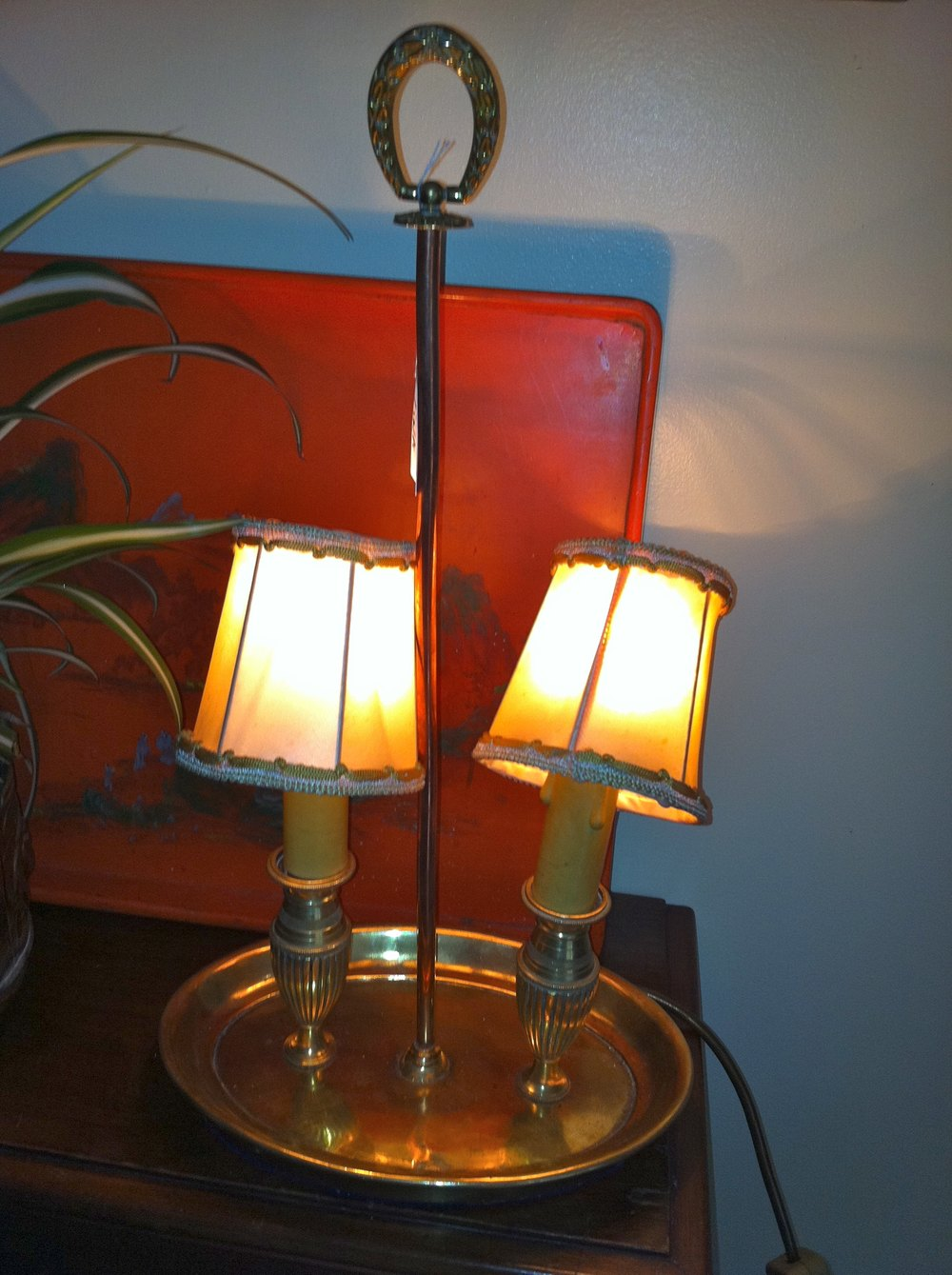 Antiques Atlas 1850 Bouillotte Bureau Consol Or Bedside Lamp