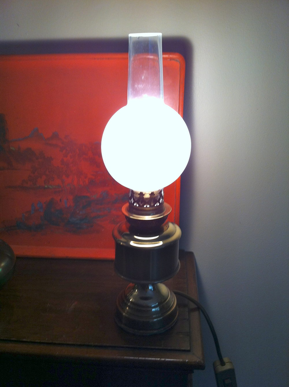 Antiques Atlas 1900 French Oil Lamp