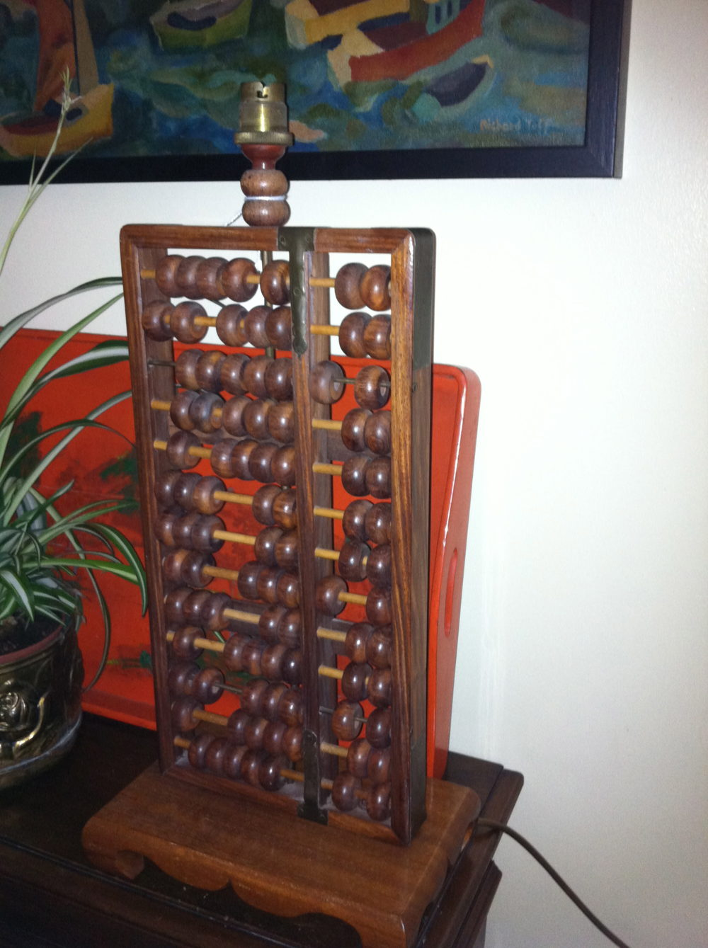 Antiques Atlas Antique Chinese Abacus Lampbase