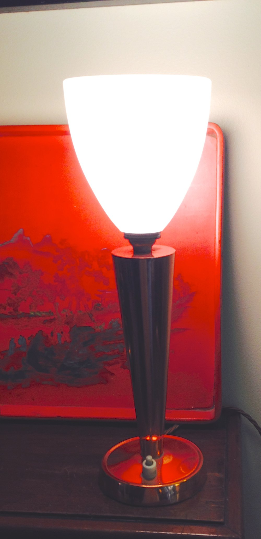 Antiques atlas art deco desk lamp copper and opaline for Art deco era dates