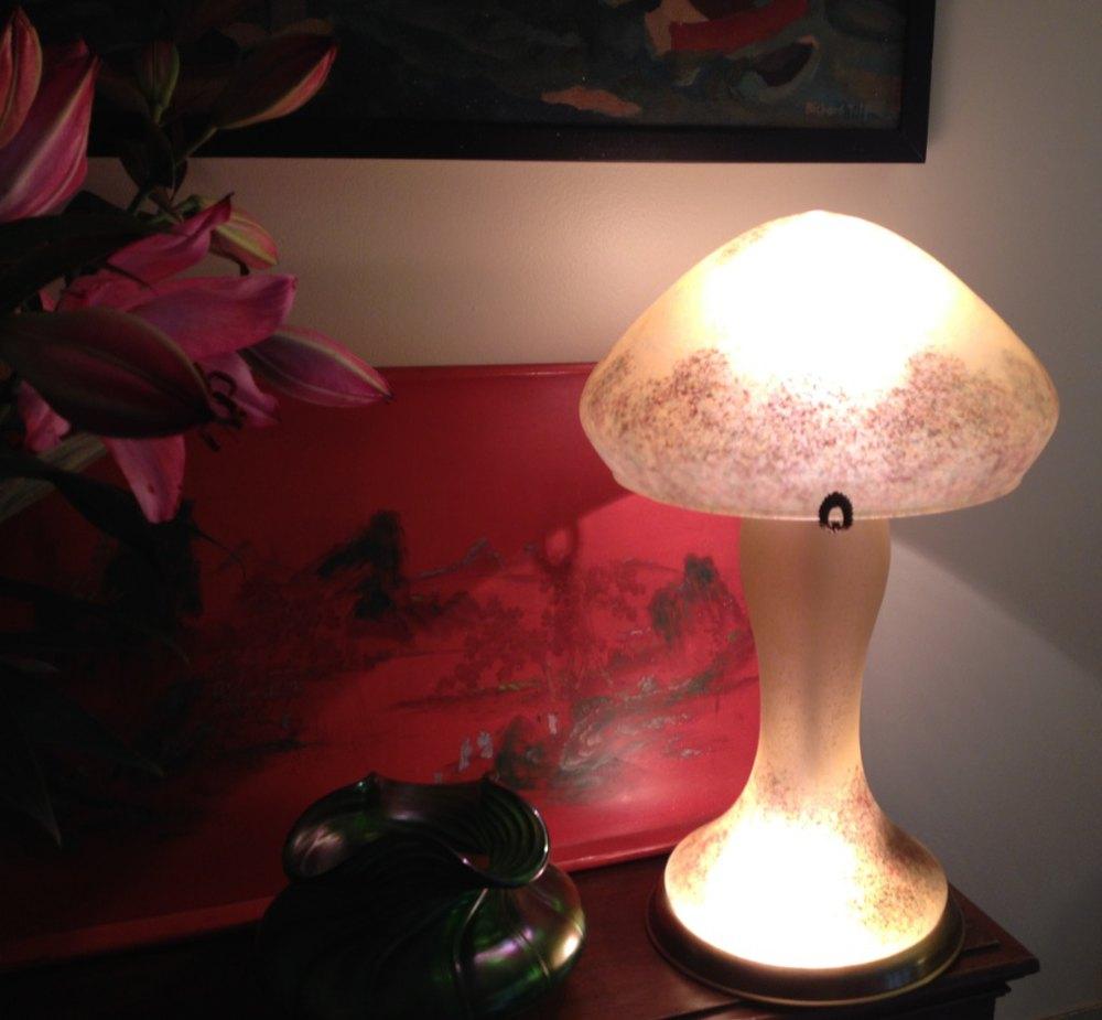 Antiques atlas art deco table lamp pate de verre - Deco de table vintage ...