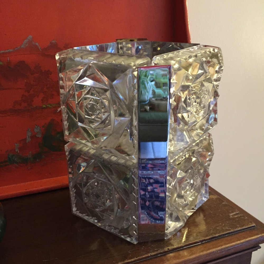 Next Crystal Wall Lights : Antiques Atlas - Art Deco Wall Light Crystal And Chrome