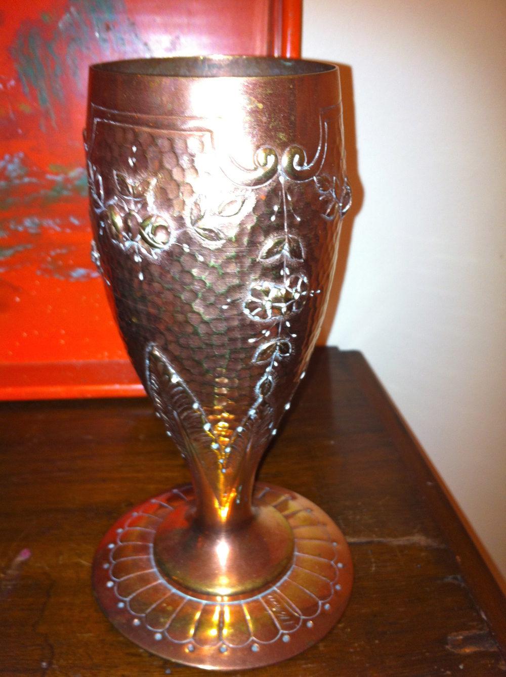 Antiques Atlas Art Nouveau Vase In Copper