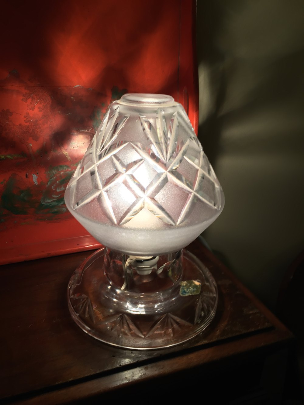Antiques Atlas Classic Mushroom Crystal Lamp