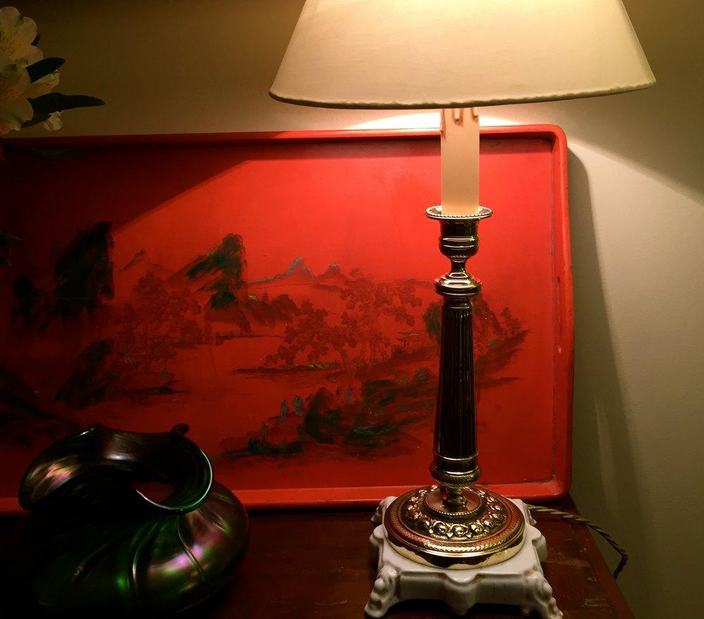 Antiques atlas elegant 1920 dressing table lamp brass for Dressing table lamp lighting