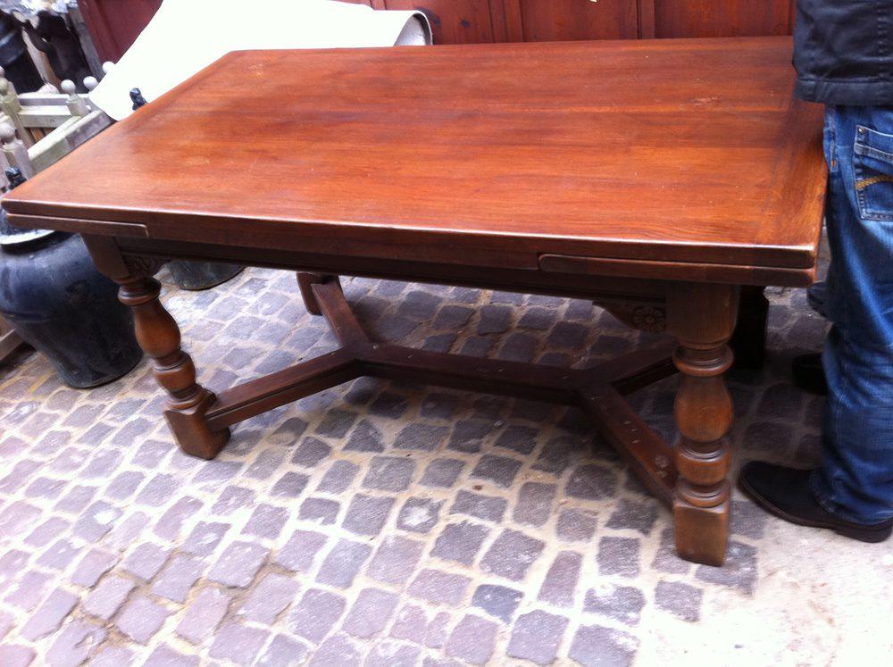 Large Drawleaf Refectory Table In Oak 1900 Antiques Atlas