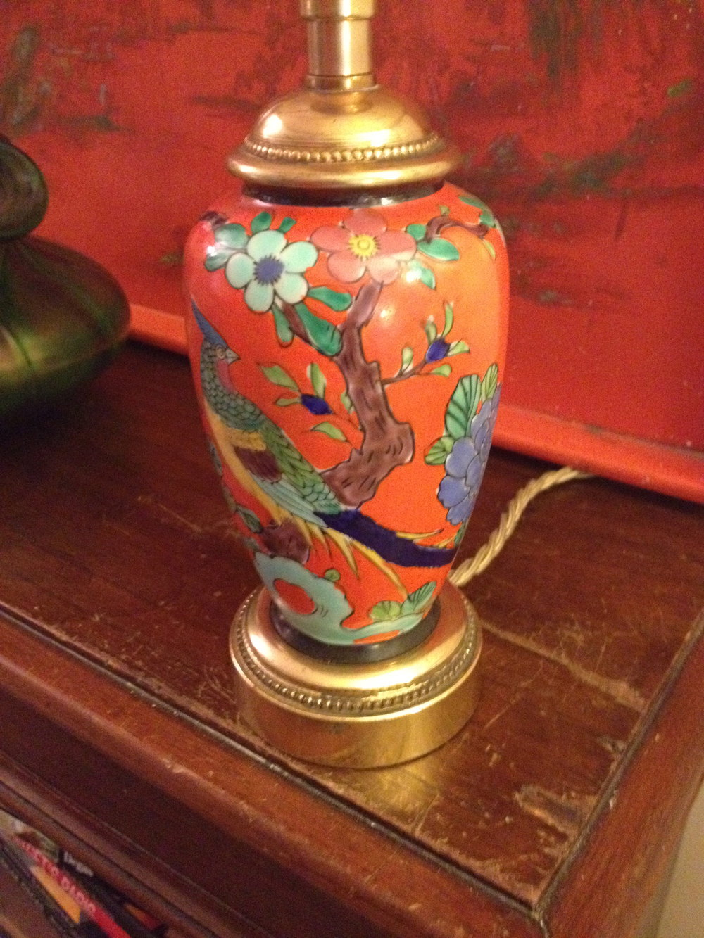 Antiques Atlas Oriental Hand Painted Lamp In Porcelain