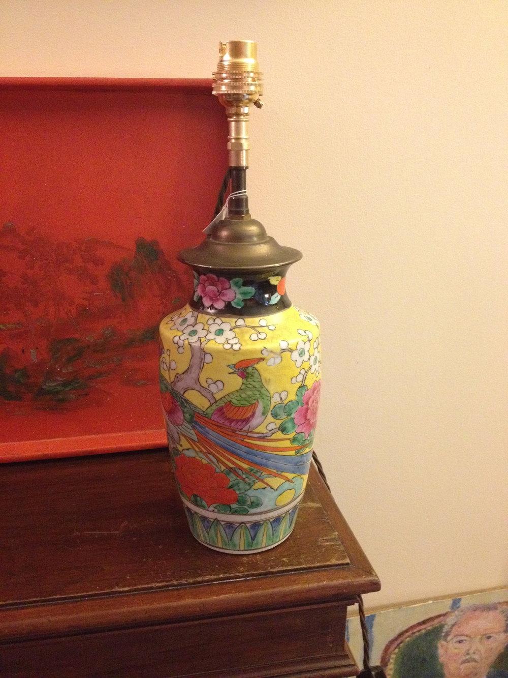 Antiques Atlas Oriental Table Lamp In Porcelain