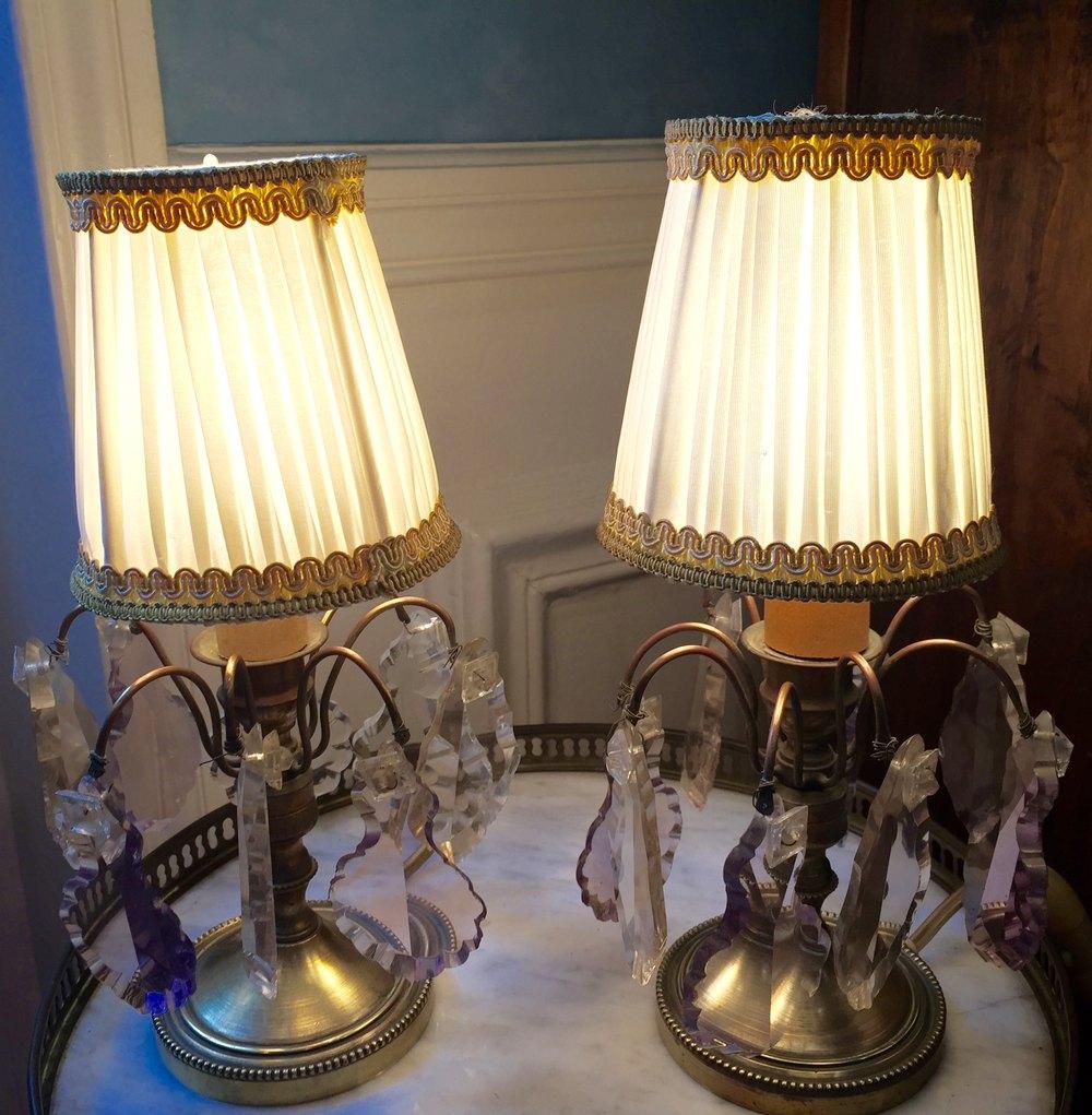 Antiques Atlas Pair 1920 Dressing Table Lamps