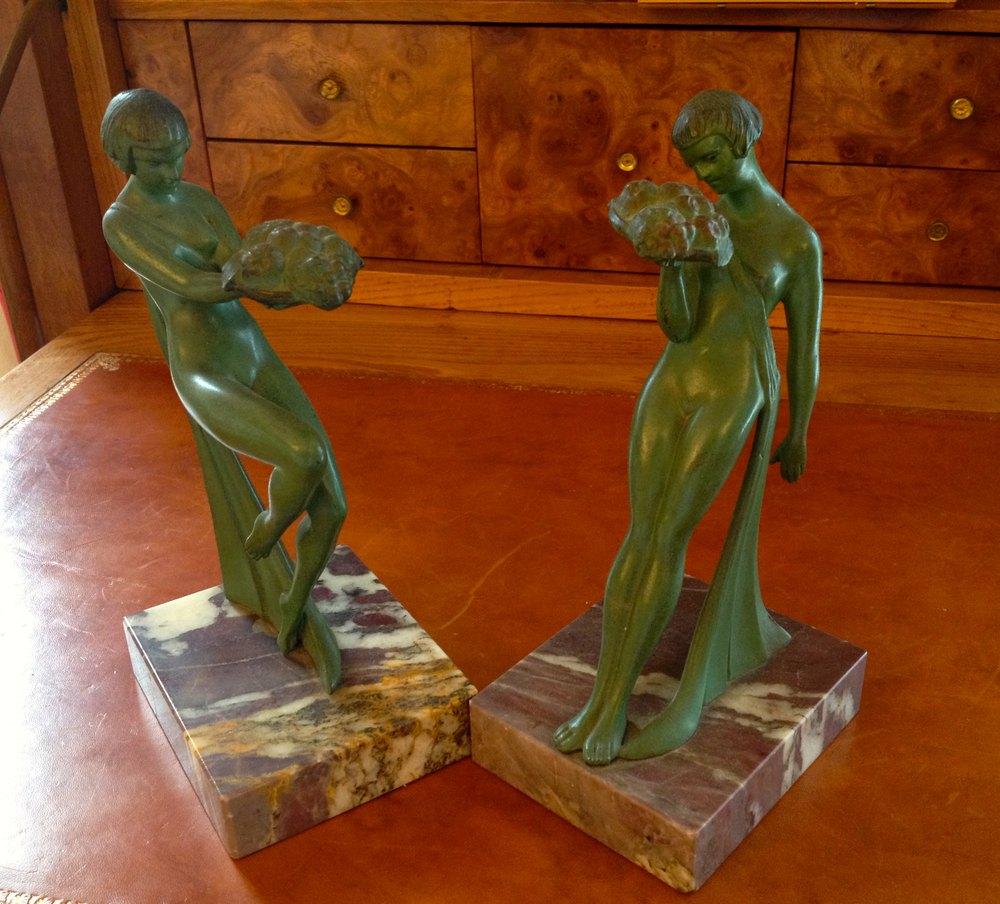 Antiques Atlas Pair Art Deco Bronze Sculptures Signed G
